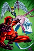 Magneto Iceman Angel by Clayton Henry by Dreekzilla