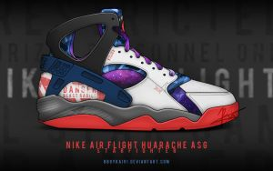 Nike Air Flight Huarache ASG 'Starfighter' by BBoyKai91