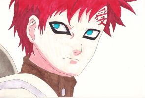 Gaara. - Naruto. - Coloured Version. by IrishRickmaniac