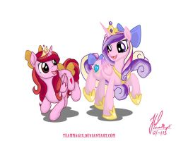 Two Princesses, One Heart by teammagix