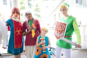 Wind Waker. Link, Medli, Komali and Aryll by Distorted-Ai