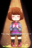 You are filled with Determination by StarBunniie