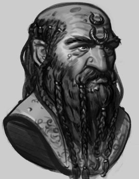 Sketch - Dwarf by Thorsten-Denk
