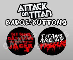 Attack on Titan TITANS ARE MY TRIGGER by wanabiEPICdesigns