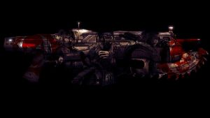 The chainsaw gun gang by Bartistictouch