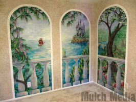Completed Mural - 3 Panels by MulchMedia