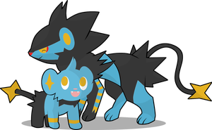 shinx and luxray by BlueBubble-L