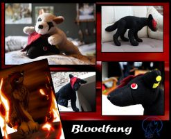 Bloodfang Plushie by AzureHowlShilach