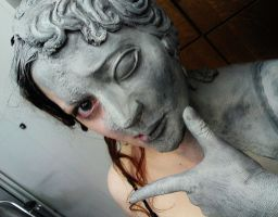 backstage weeping angel by made-me-a-monster