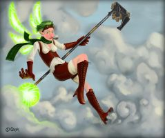 Steam Fairy, at yer service! by Qedr