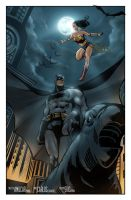 Batman and Wonder Woman by erickenji