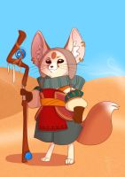A WIP...sorta...Icarus the desert fox mage by MakiLoomis