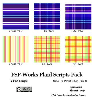 RBF PSP-Works script plaid tiles by rosebfischer
