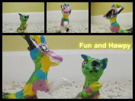 Fun and Hawpy the pinata by SwimmButt