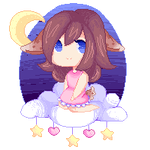'Goodnight'Pixel Commission Example by Pyon-Suki