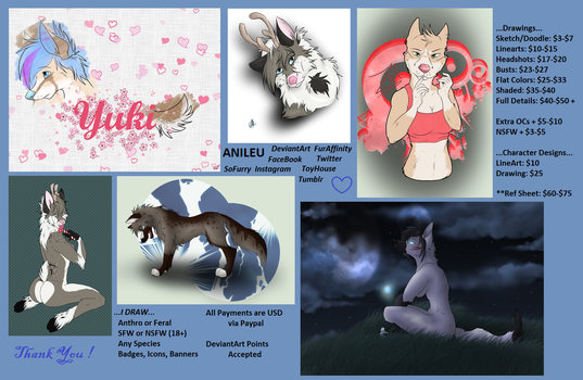 Commission Prices by Anileu