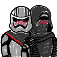 Kylo Ren x Captain Phasma by smols