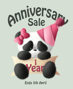 1 Year Anniversary Sale Panda by parochena