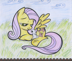 Fluttershy cares by Theorak