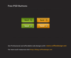 Free PSD Button set by ahsanpervaiz
