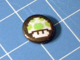 1 Up Mushroom Badge - 1 Inch by PaperCadence
