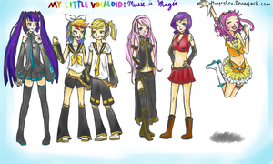 MLP Vocaloid Crossover by HungryLen