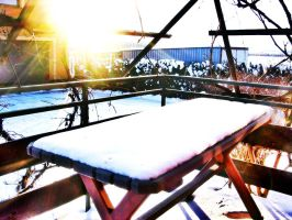 snow in the sun by adriannazajac