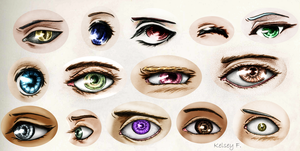 Eye Practice -- Realistic Two by Imaginary--Thoughts