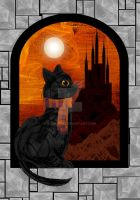 Orange Sky - (A.K.A Hogwart's Cat) by rockgem