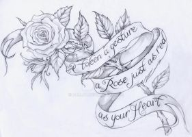 rose with script by Pallat