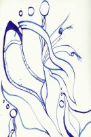 Blue ink abstract WIP by ForestFaerieQuean