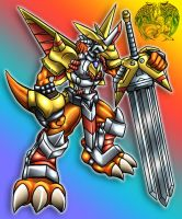 Victory Greymon default by IceRenamon