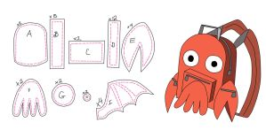 Zoidberg BackPack Pattern by DracosDerpyHoof