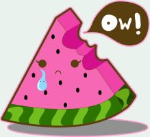 watermelon suprise. by girlmarvel