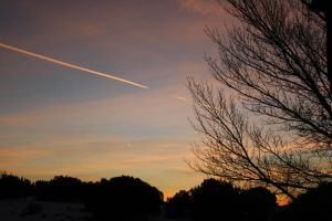 Jetstreams in the Sunset by cookietroglodyte