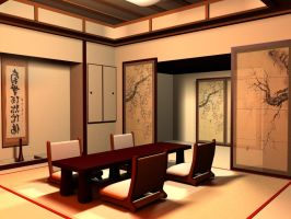 japanese interior by chrispallaris