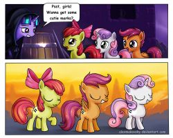 New cutie marks for crusaders by alexmakovsky