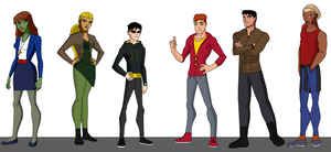 Young Justice Hipsters by kn1978