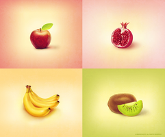 fruit icons by brainchilds