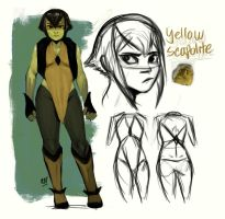 Gemsona OC - Yellow Scapolite by redblacktac