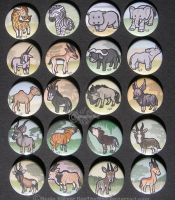 African Herbivore Button set by RonTheWolf