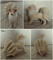Standing Ninetales plush commission by Tedimo