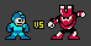 Megaman VS Magnetman by Yaku-Zan