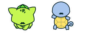 Shiny Gentalmon Bulbasaur-squirtle by PokeWaffle