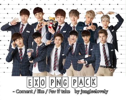 EXO PNG PACK by Jungleelovely