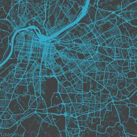 Louisville by MapMapMaps