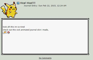pikachu journal skin (animated) by nuoh
