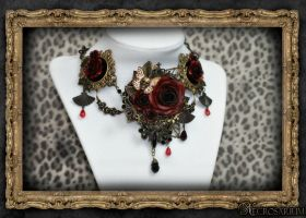Versailles Rose Necklace 1 by Necrosarium