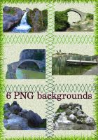 six PNG backgrounds by roula33