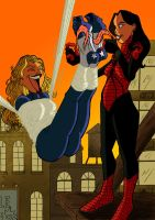 Spiderwoman and Amercan Dream1 by JinksLizard